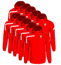 Team pack - 10x Kids or Adults Cordoba Spray Jacket - Red